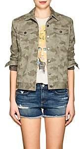 ATM Anthony Thomas Melillo Women's Camouflage Cotton Jacket - Green