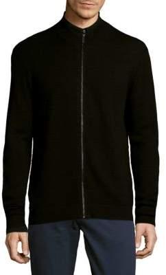 Saks Fifth Avenue Textured Full Zip Sweater