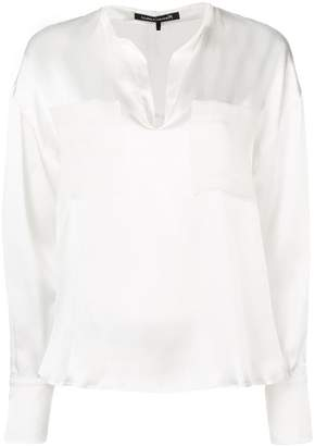 Luisa Cerano patch pocket tunic blouse