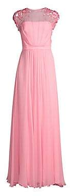Escada Women's Crepe Chiffon Silk Sheath Gown