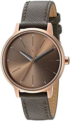 Nixon Women's A1082214-00 Kensington Grey Watch with Leather Band
