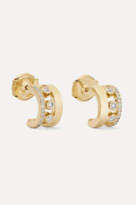 Messika Move Romane 18-karat Gold Diamond Hoop Earrings - one size