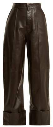 Joseph High-rise leather trousers