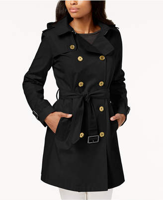 Michael Kors MICHAEL Petite Double-Breasted Trench Coat