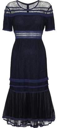 Jonathan Simkhai Tulle-Paneled Corded Lace Dress
