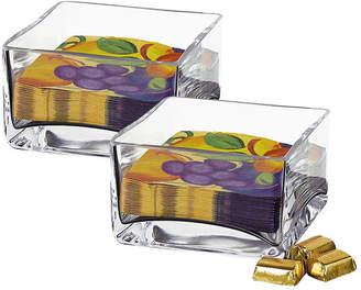Badash Crystal Sahara Square Bowls - Set of 2