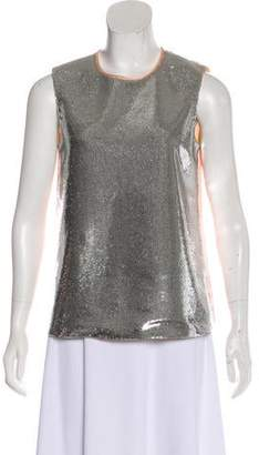 Diane von Furstenberg Sleeveless Sequined Top