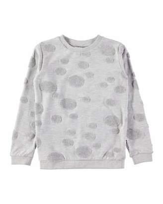 Molo Manee Long-Sleeve Pullover Sweatshirt w/ Dot Detail