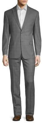 Michael Kors Two-Piece Check Wool Suit