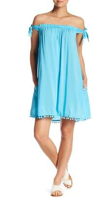 BLEU by Rod Beattle Off-the-Shoulder Solid Cover-Up