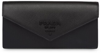 Prada monochrome Saffiano clutch bag