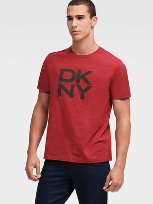 DKNY Stacked Logo Crew Neck Tee