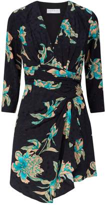 Sandro Printed Drape Dress
