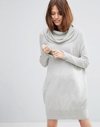 ASOS Lounge Sweater Dress with Oversized Cowl Neck $57 thestylecure.com