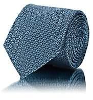 Barneys New York Men's Abstract-Geometric Silk Jacquard Necktie - Turquoise