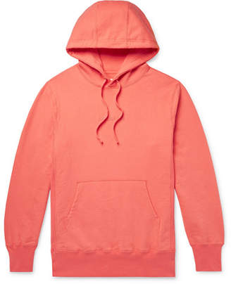 Leon Aimé Dore Aime Dore - Logo-Embroidered Loopback Cotton-Jersey Hoodie - Men - Orange