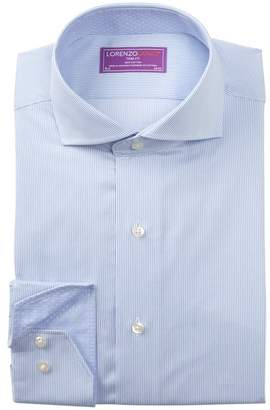 Lorenzo Uomo Thin Stripe Trim Fit Dress Shirt