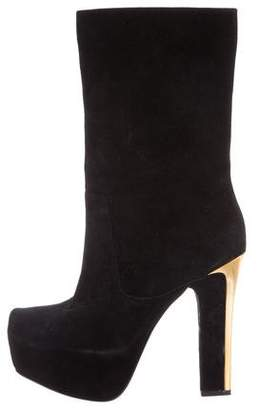 Theyskens' Theory Pointed-Toe Platform Boots
