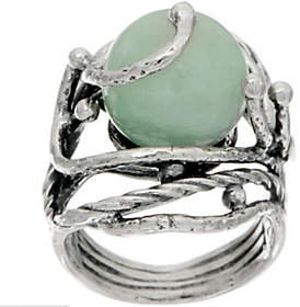 Or Paz Sterling Green Jade Ring