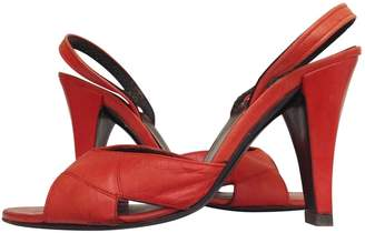 Christian Dior Red Leather Sandals