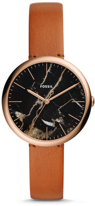 Fossil Annette Three-Hand Luggage Leather Watch