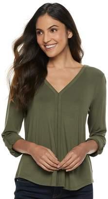 Apt. 9 Women's V-Neck Button Sleeve Top