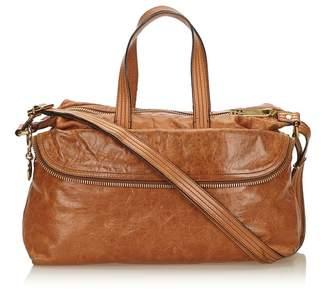 Fendi Vintage Leather Zip It Satchel