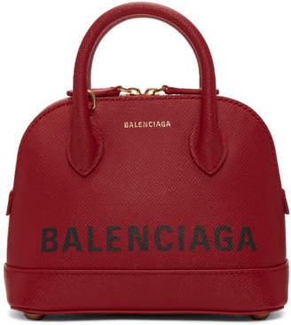 Balenciaga Red XXS Ville Top Handle Bag