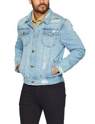 Co Quality Durables Men's Regular-Fit Distressed Jean Jacket XL