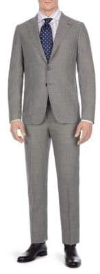 Isaia Double Cortina Patch Solid Suit