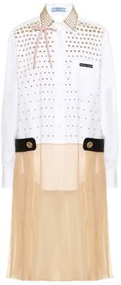 Prada Embellished silk-blend dress