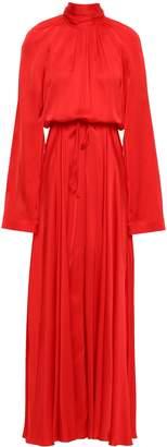 SOLACE London Akan Satin Turtleneck Maxi Dress