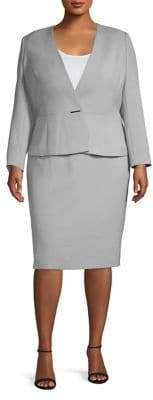 Tahari Arthur S. Levine Plus Two-Piece Bi-Stretch Jacket & Pencil Skirt Suit