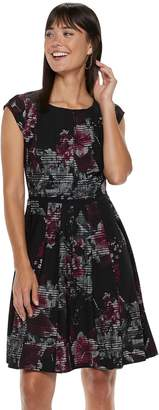 Elle Women's Seamed Fit & Flare Dress