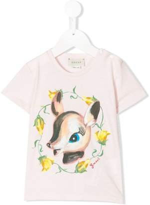 Gucci Kids deer print T-shirt