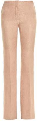 Marco De Vincenzo Side-stripe jacquard bootcut trousers