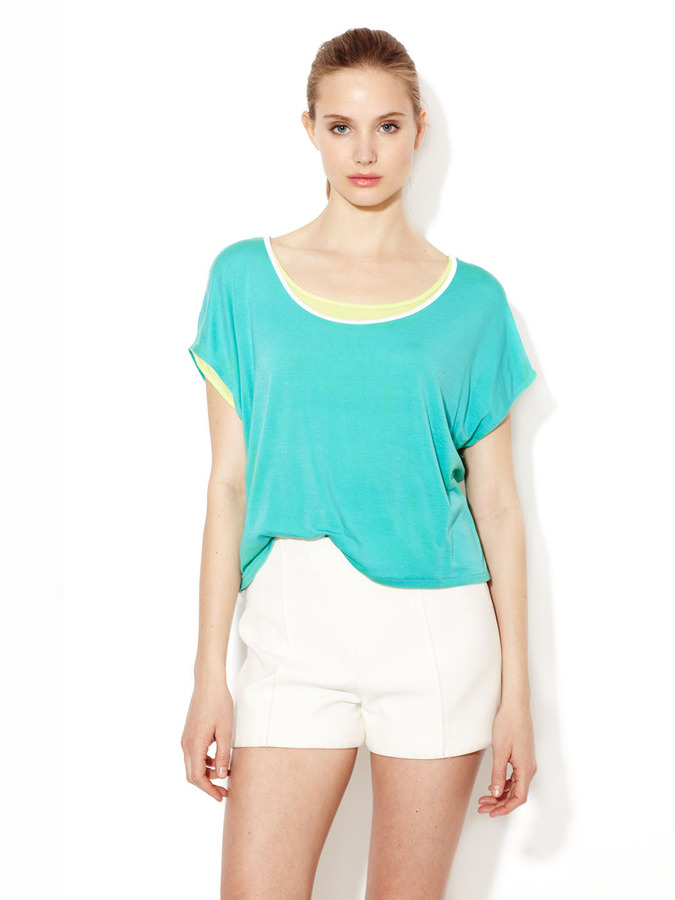 Loomstate Barrosa Reversible Jersey Cropped Tee