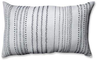 Pillow Perfect Wilmette Tribal Stitches 100% Cotton Lumbar Pillow