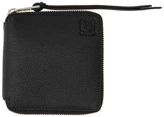 Loewe Black Metallic Rainbow Square Zip Wallet
