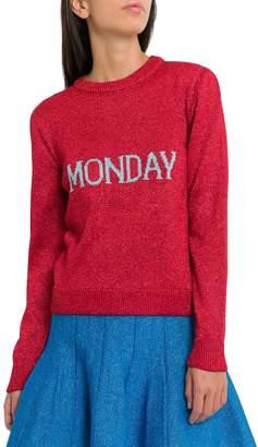 Alberta Ferretti Rainbow Week Lurex Pullover