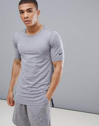 Nike Training Utility Fitted T-Shirt In Grey AA1591-037