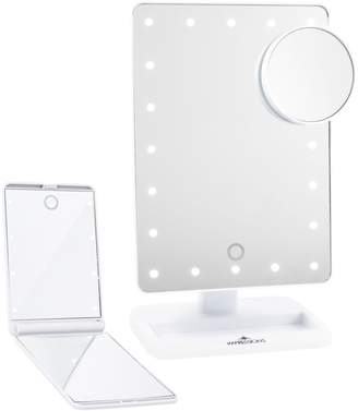 Co Impressions Vanity Touch XL Dimmable LED Makeup Mirror with Removable 5x Mirror & Compact Mirror