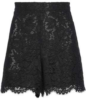 Valentino Scalloped Cotton-Blend Corded Lace Shorts