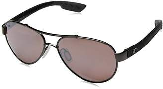 Costa del Mar Women's Loreto Polarized Iridium Aviator Sunglasses