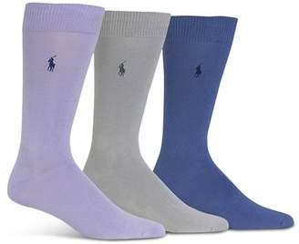 Polo Ralph Lauren Super Soft Flat Knit Socks - Pack of 3