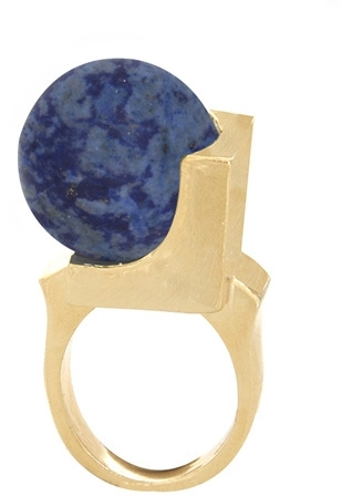 Low Luv x Erin Wasson Crystalline Orb Ring - Lapis