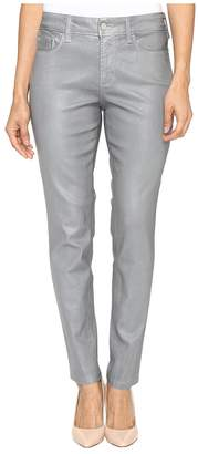 NYDJ Petite Petite Ami Skinny Leggings in Platinum Shimmer Coated Women's Jeans