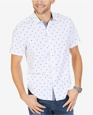 Nautica Men's Big & Tall Marlin-Print Classic Fit Shirt