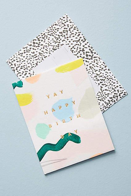 Moglea Yay Happy Birthday Card