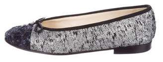 Chanel Tweed Cap-Toe Flats